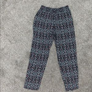 Tribal Print Relaxed Pants